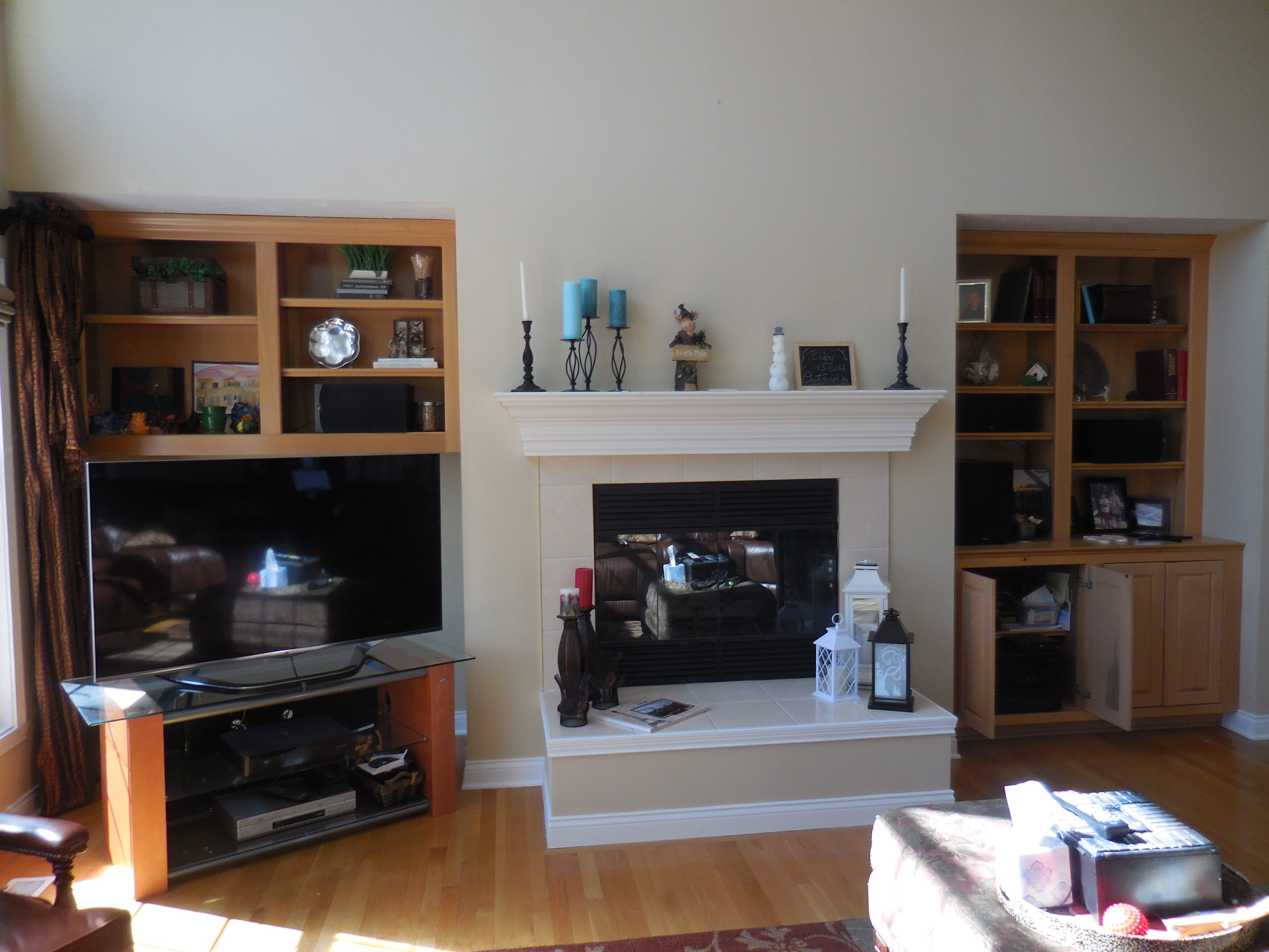 family room fireplace transformed case indy