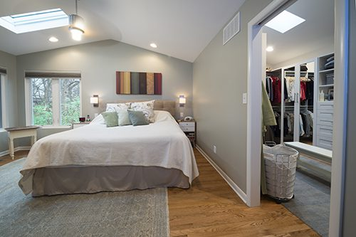 To Create Functional E For The Master Suite Two Small Bedrooms Were Converted Into A Large Bedroom With Vaulted Ceiling And Walk In Closet